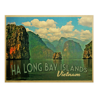 Ha Long Bay Islands Vietnam Postcard