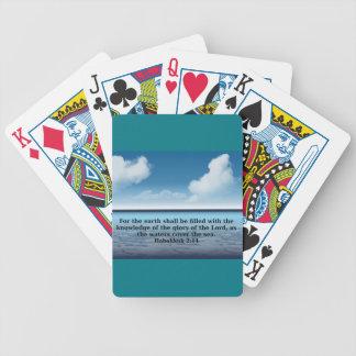Habakkuk 214 bible verse quote bicycle playing cards