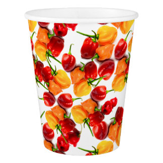 Habanero Chilies Red Peppers Orange Hot Food