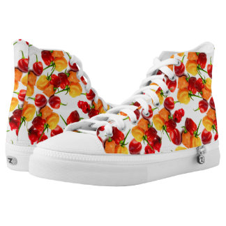 Habanero Chilies Red Peppers Orange Hot Food High Tops