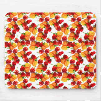 Habanero Chilies Red Peppers Orange Hot Food Mouse Pad