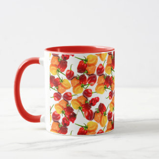 Habanero Chilies Red Peppers Orange Hot Food Mug