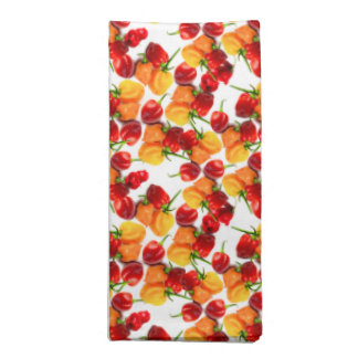 Habanero Chilies Red Peppers Orange Hot Food Napkin