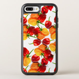 Habanero Chilies Red Peppers Orange Hot Food OtterBox Symmetry iPhone 8 Plus/7 Plus Case