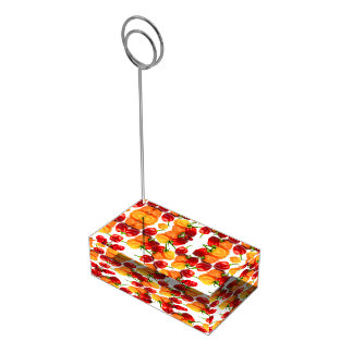 Habanero Chilies Red Peppers Orange Hot Food Table Number Holder