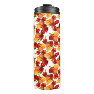 Habanero Chilies Red Peppers Orange Hot Food Thermal Tumbler