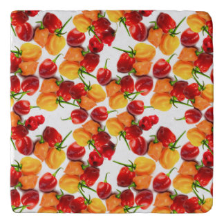 Habanero Chilies Red Peppers Orange Hot Food Trivet