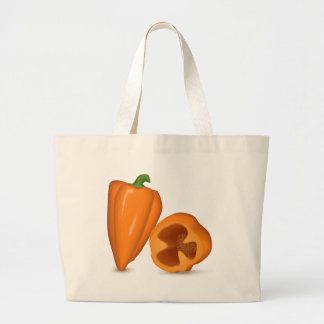 Habanero Peppers Large Tote Bag