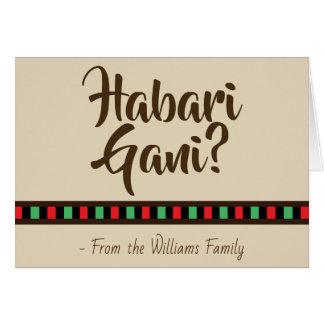 Habari Gani - Kwanzaa | Greeting Card