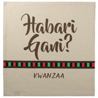 Habari Gani - Kwanzaa items   Cloth Napkin