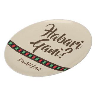 Habari Gani - Kwanzaa items   Melamine Plate
