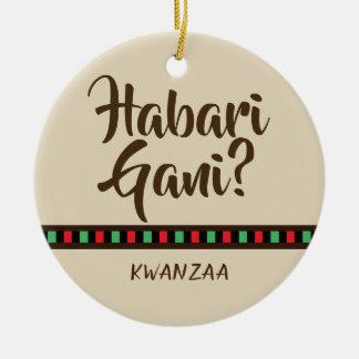Habari Gani - Kwanzaa items | Ornament