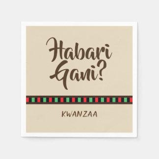 Habari Gani - Kwanzaa items   Paper Napkin