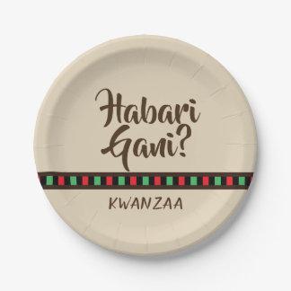 Habari Gani - Kwanzaa items   Paper Plate