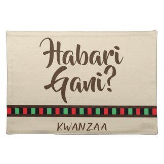 Habari Gani - Kwanzaa items | Placemat