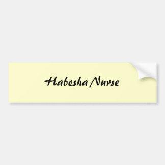 Habesha Nurse Bumper Sticker