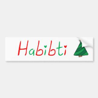 Habibti Bumper Sticker