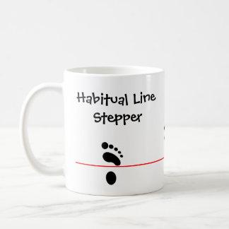 Habitual Line Stepper Basic White Mug