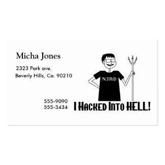 Hacked Into Hell Nerd Business Card Templates