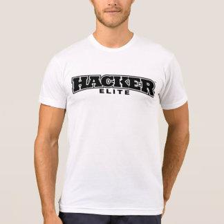 hacker elite black and white tshirt