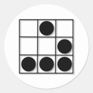 Hacker Emblem Classic Round Sticker