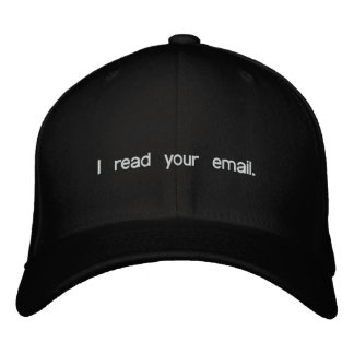 Hacker Hat - I read your email Embroidered Baseball Cap
