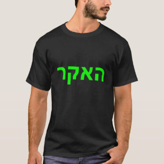 Hacker in Hebrew T-Shirt
