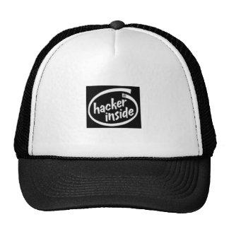 hacker inside cap