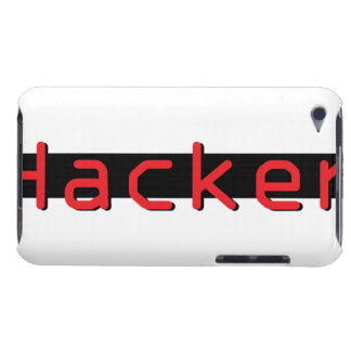 Hacker red & Black iPod Case-Mate Cases