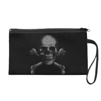 Hacker Skull and Crossbones Wristlet Purse