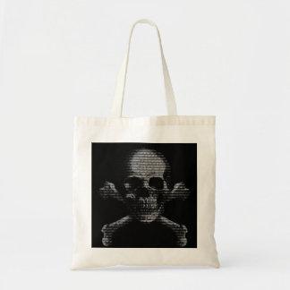 Hacker Skull and Crossbones Canvas Bag