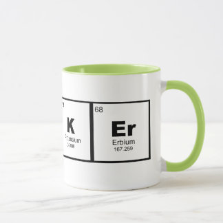 """hacker"" STEM chemistry coffee mug"