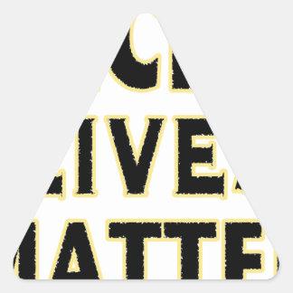 HACKerS LIVES MATTER (YaWNMoWeR) Triangle Sticker