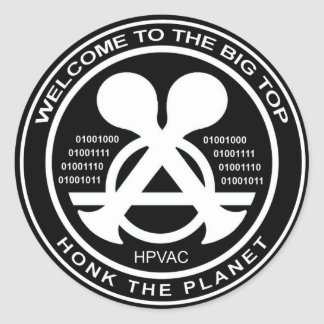 Hacking Sticker HPVAC Binary HONK!