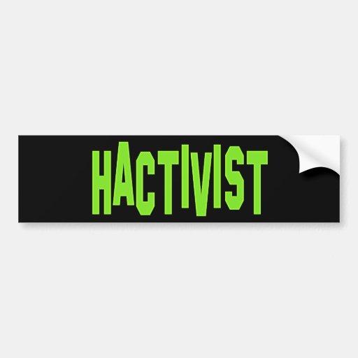 Hactivist Hacker Activist Bumper Sticker