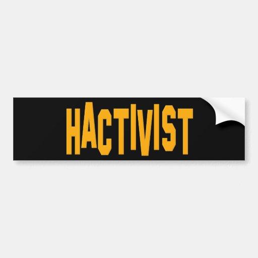 Hactivist Hacker Activist Bumper Stickers