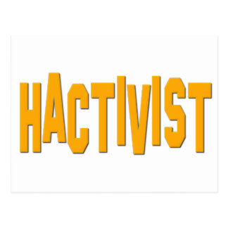 Hactivist Hacker Activist Postcard