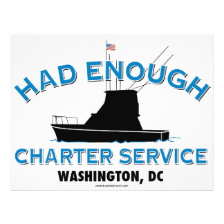 Had Enough Charter Service Flyer Design