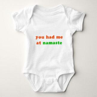 had me at namaste baby bodysuit