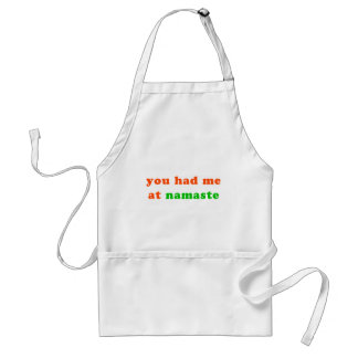 had me at namaste standard apron