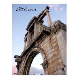 hadrian arch greece postcard