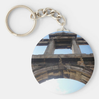 hadrian's arch basic round button key ring