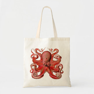 Haeckel Octopus Red Bag
