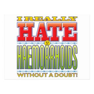 Haemorrhoids Hate Face Postcard