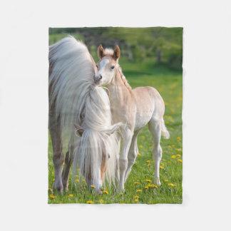 Haflinger Horses Cute Baby Foal With Mum Photo . Fleece Blanket