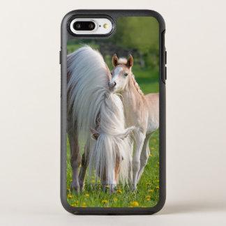 Haflinger Horses Cute Baby Foal With Mum Photo /- OtterBox Symmetry iPhone 8 Plus/7 Plus Case