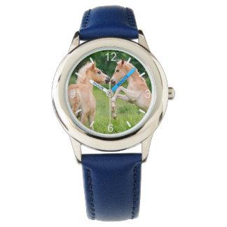 Haflinger Horses Cute Foals Friends Rear clockface Watch