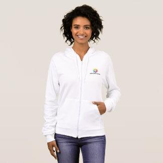 HAfS Women's Basic Hooded Zip Sweatshirt (White)