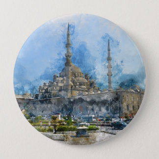 Hagia Sophia in Istanbul Turkey 10 Cm Round Badge