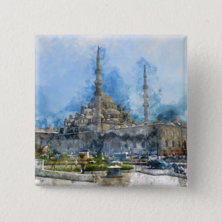 Hagia Sophia in Istanbul Turkey 15 Cm Square Badge
